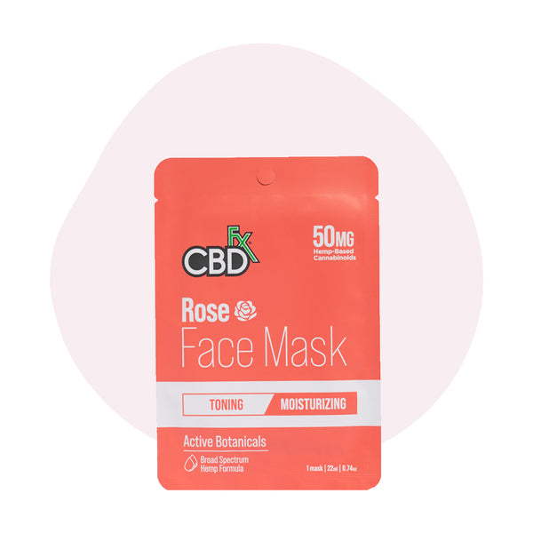 CBDfx Broad Spectrum CBD Rose Face Mask - ErthBay