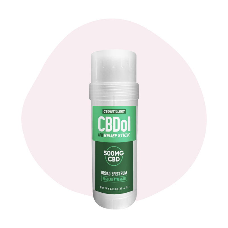 CBDistillery CBD Topical CBDol Broad Spectrum Relief Stick 500mg - ErthBay