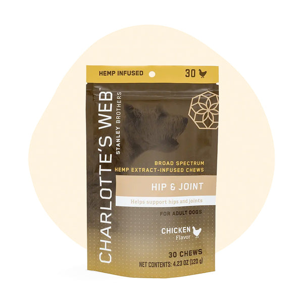 Charlottes Web CBD Pet Edible Full Spectrum Hip & Joint Chews 75mg - ErthBay