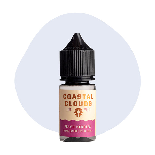 Coastal Clouds CBD Peach Berries Vape Juice - ErthBay