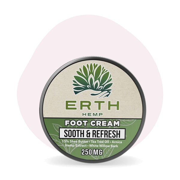 ERTH Hemp CBD Foot Cream Sooth & Refresh 250mg - ErthBay