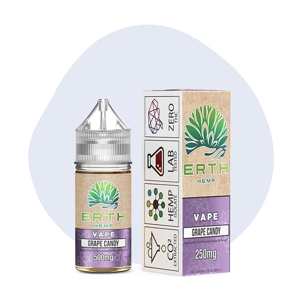 ERTH Hemp Grape Candy CBD Vape Juice 30ml - ErthBay