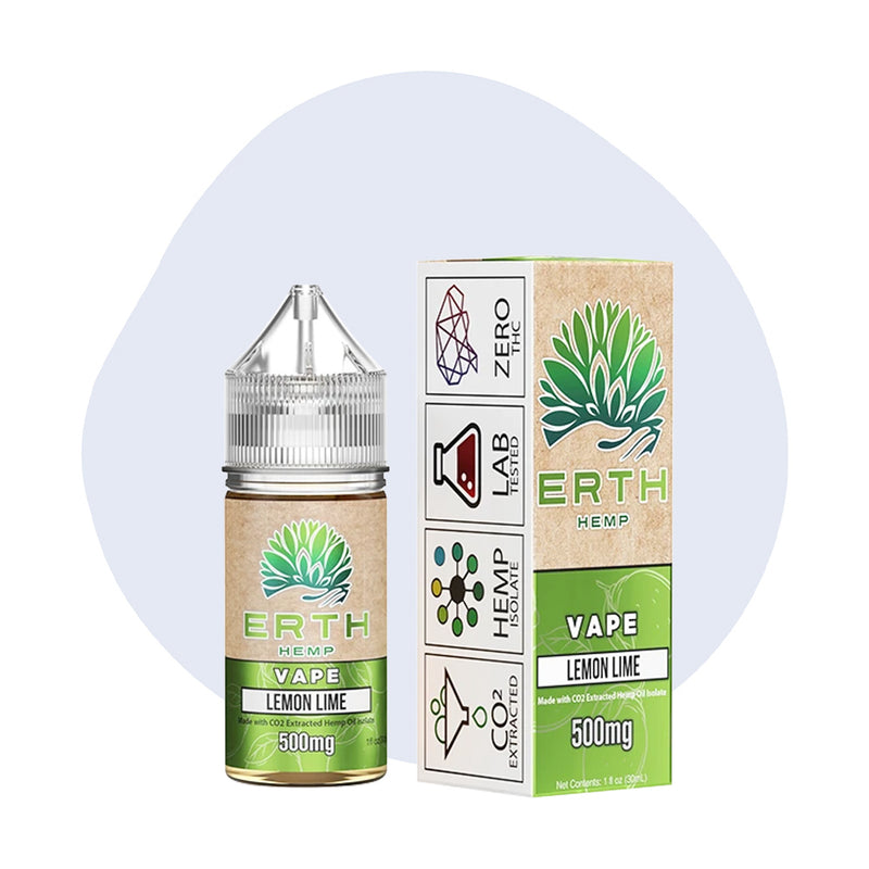 ERTH Hemp Lemon Lime CBD Vape Juice 30ml - ErthBay