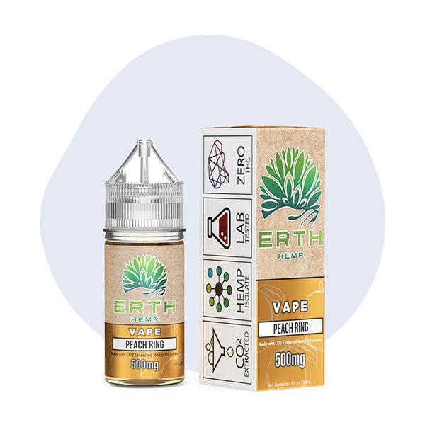 ERTH Hemp Peach Ring CBD Vape Juice 30ml - ErthBay