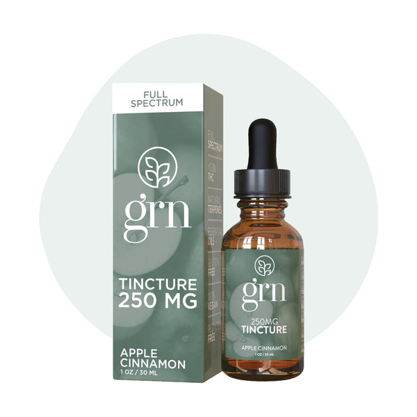 GRN CBD Oil Tincture Full Spectrum Apple Cinnamon - ErthBay