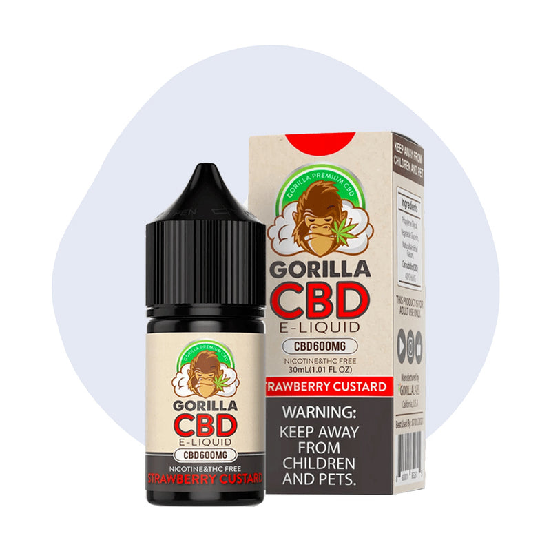 Gorilla CBD Strawberry Custard Vape Juice - ErthBay