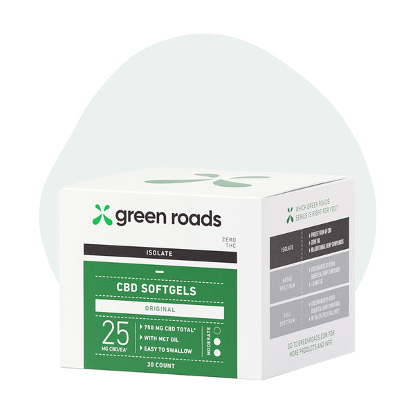 Green Roads CBD Capsules Isolate Original Caps 25mg - ErthBay