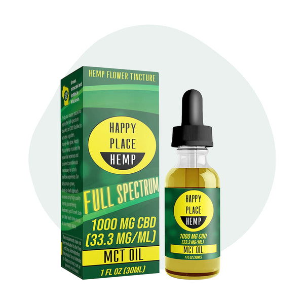 Happy Place Hemp CBD Tincture Full Spectrum MCT Oil 1000mg - ErthBay