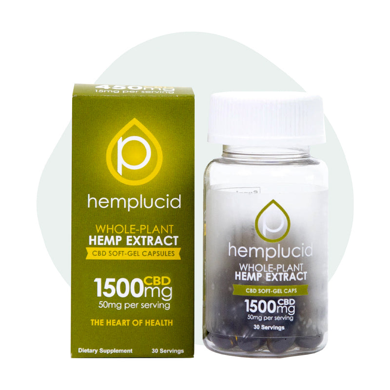 Hemplucid CBD Soft Gel Caps 1500mg - ErthBay