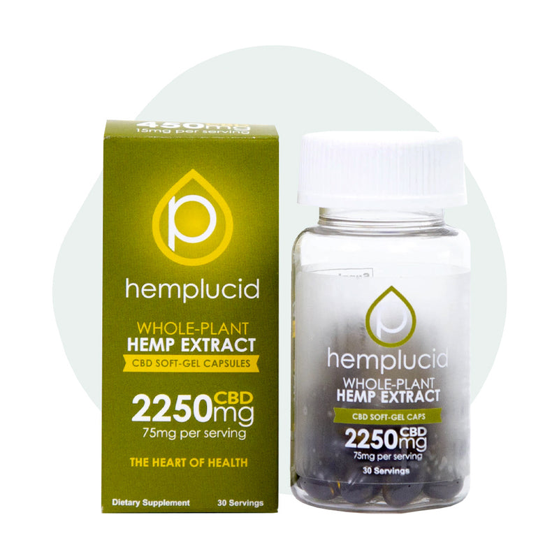 Hemplucid CBD Soft Gel Caps 2250mg - ErthBay
