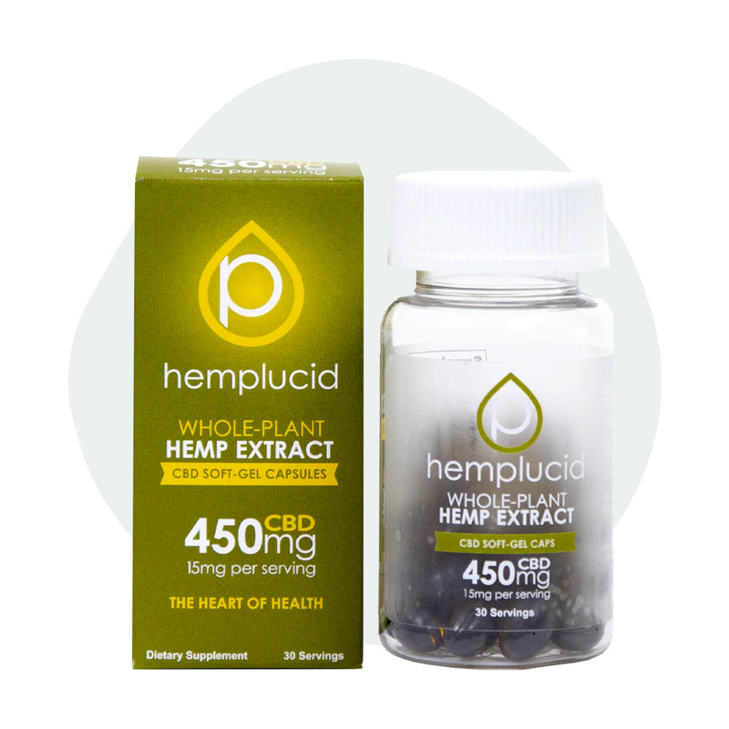 Hemplucid CBD Soft Gel Caps 450mg - ErthBay