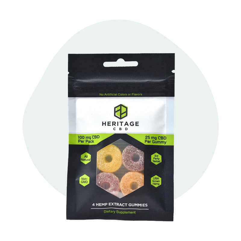 Heritage Hemp CBD Edible Gummies 4 Pack 25mg - ErthBay
