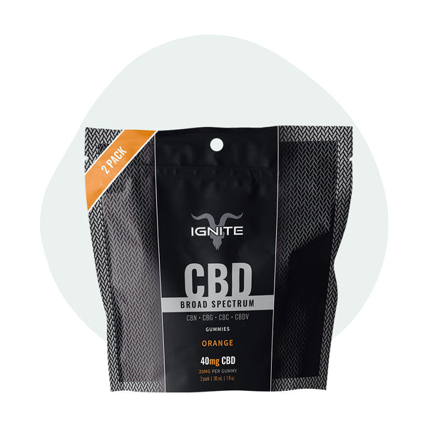 IGNITE Broad Spectrum CBD Gummies Orange - ErthBay