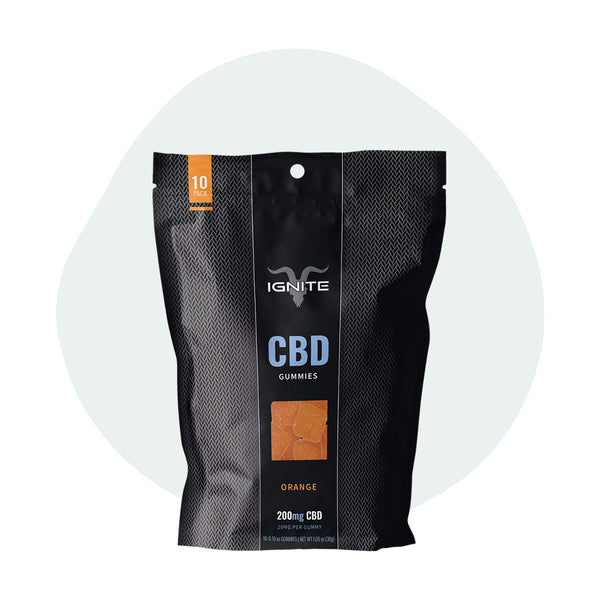 IGNITE Isolate CBD Gummies Orange - Erthbay
