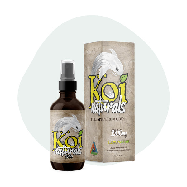 Koi CBD Tincture Spray Full Spectrum Lemon-Lime 1500mg - ErthBay