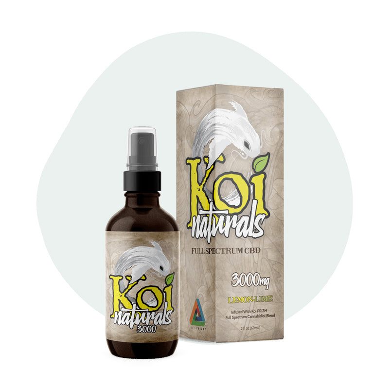 Koi CBD Tincture Spray Full Spectrum Lemon-Lime 3000mg - ErthBay