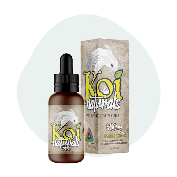 Koi CBD Tincture Koi Naturals Lemon Lime 30ml 500mg - ErthBay