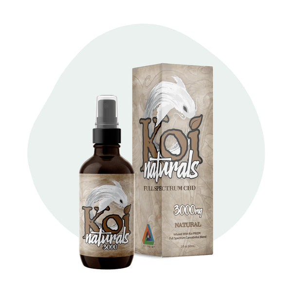 Koi CBD Tincture Spray Full Spectrum Natural 3000mg - ErthBay