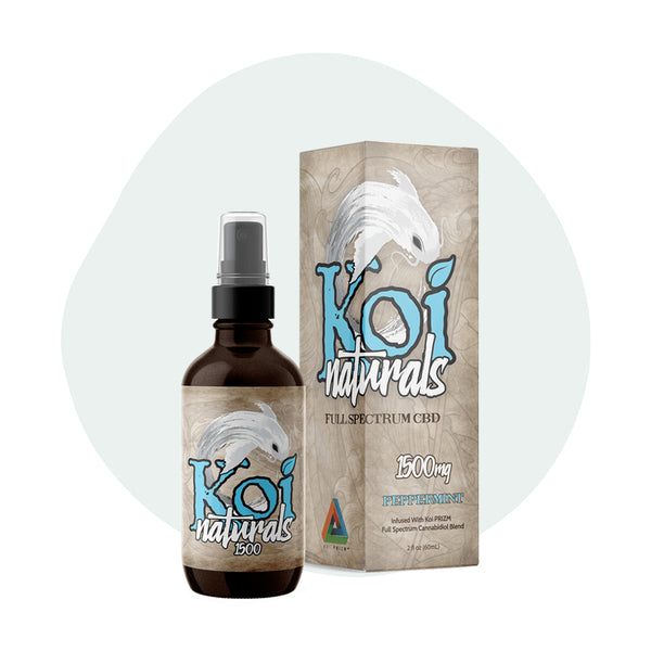 Koi CBD Tincture Spray Full Spectrum Peppermint 1500mg - ErthBay