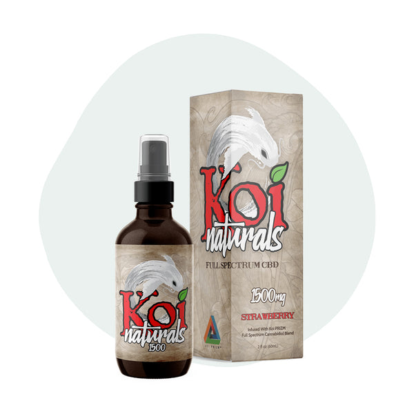 Koi CBD Tincture Spray Full Spectrum Strawberry 1500mg - ErthBay