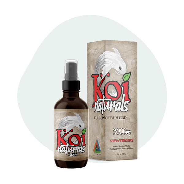Koi CBD - CBD Tincture Spray - Full Spectrum Strawberry - 1500mg-3000mg
