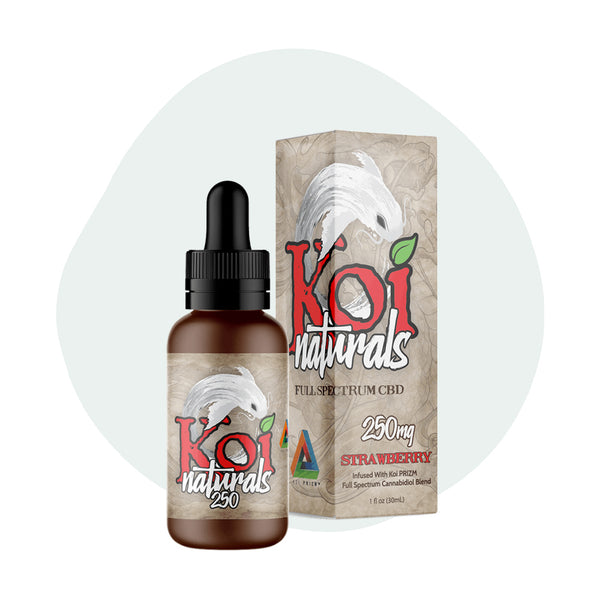 Koi CBD Tincture Koi Naturals Strawberry 30ml 250mg - ErthBay