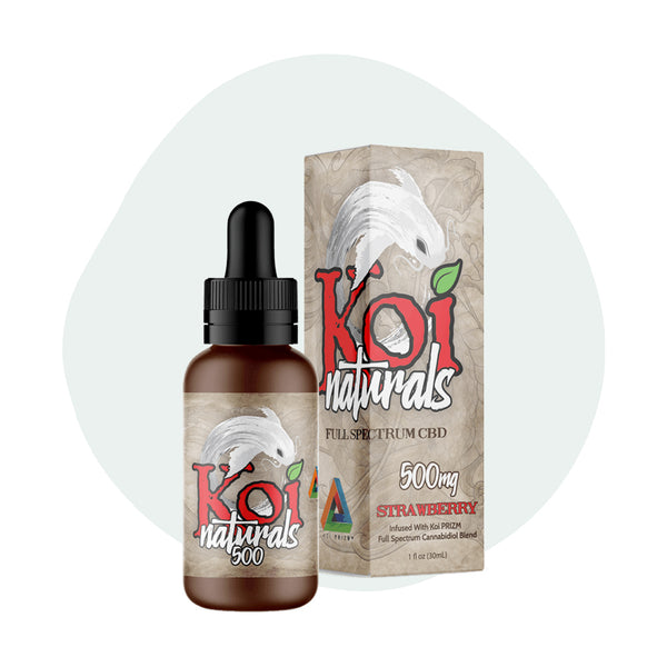 Koi CBD Tincture Koi Naturals Strawberry 30ml 500mg - ErthBay