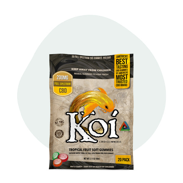 Koi CBD Tropical Fruit Gummies 10mg - ErthBay