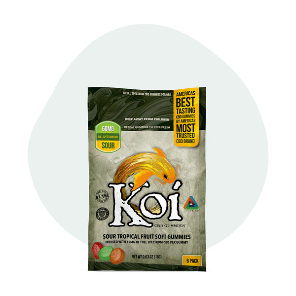 Koi CBD Sour Tropical Fruit Gummies 10mg - ErthBay
