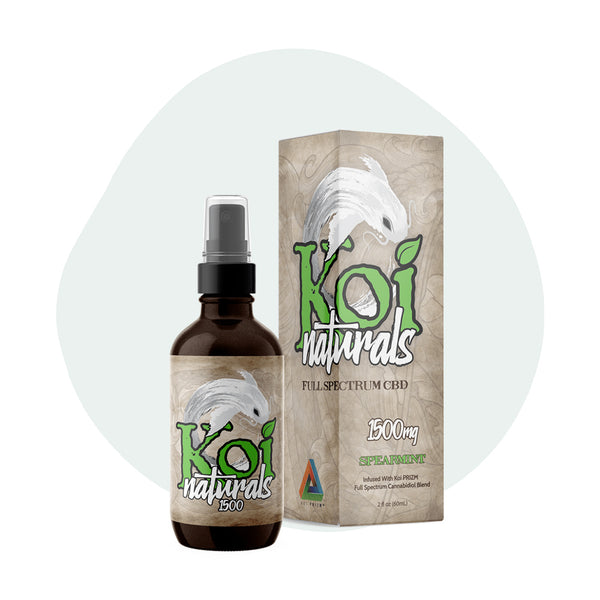 Koi CBD Tincture Spray Full Spectrum Spearmint 1500mg - ErthBay