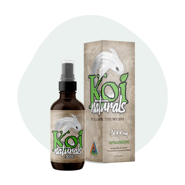 Koi CBD Tincture Spray Full Spectrum Spearmint 3000mg - ErthBay