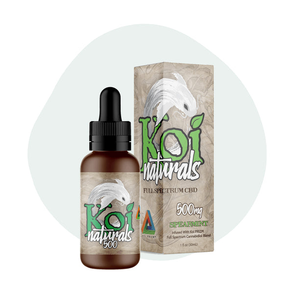Koi CBD Tincture Koi Naturals Spearmint 30ml 500mg - ErthBay