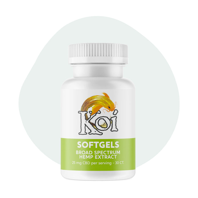Koi CBD Soft Gels Broad Spectrum Hemp Extract 25mg - ErthBay