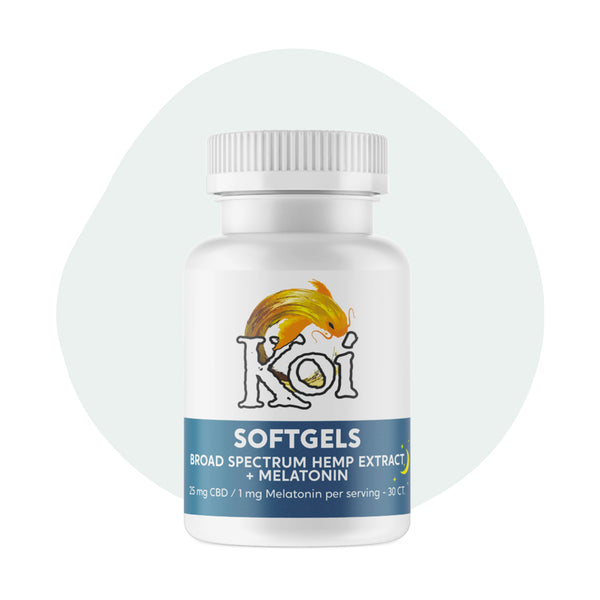 Koi CBD Soft Gels Broad Spectrum Hemp Extract Melation 25mg - ErthBay