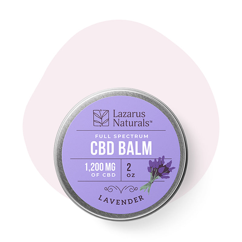 Lazarus Naturals CBD Topical Lavender Full Spectrum Balm 1200mg - ErthBay