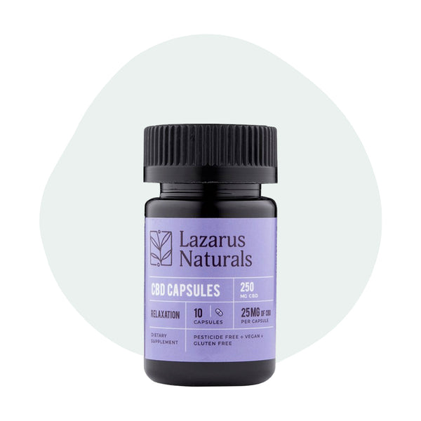 Lazarus Naturals CBD Capsules Relaxation Blend 250mg - ErthBay