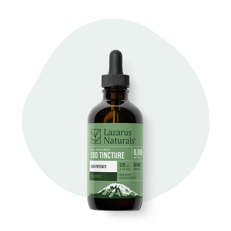 Lazarus Naturals CBD Tincture Full Spectrum Classic 120mg - ErthBay