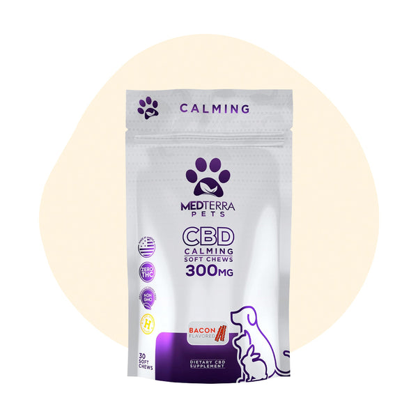 Medterra CBD Pet Bacon Calming Soft Chews 300mg - ErthBay
