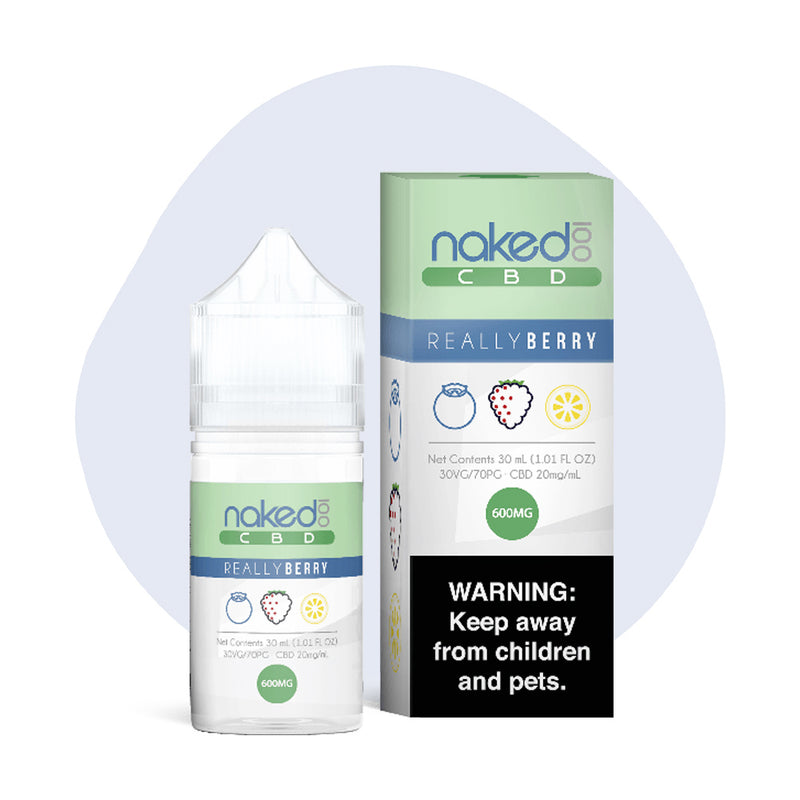 Naked 100 CBD Vape Juice Really Berry 600mg - ErthBay