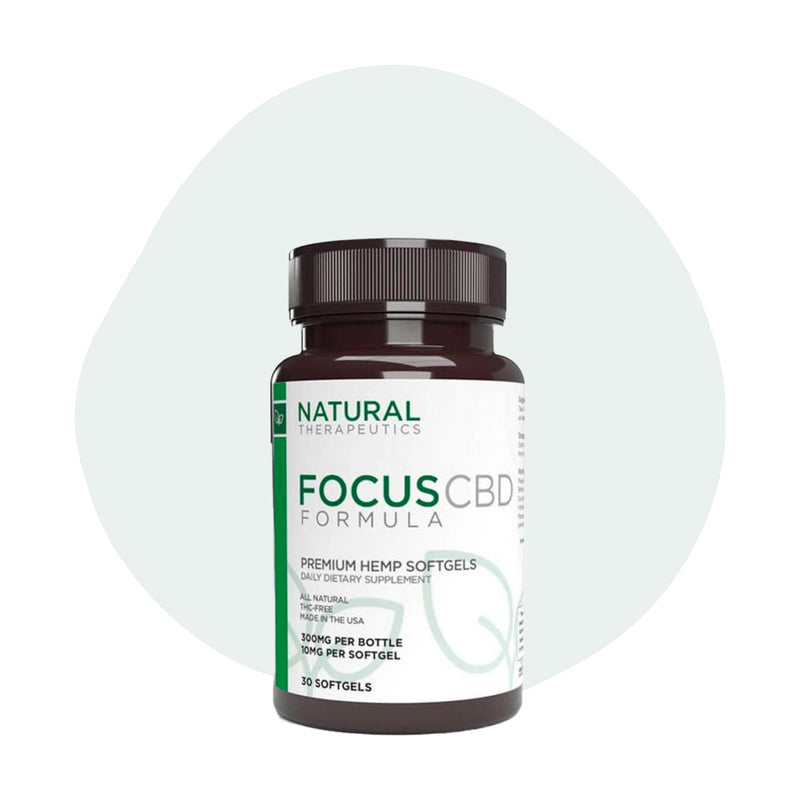 Natural Therapeutics CBD Soft Gel Caps Focus 10mg - ErthBay