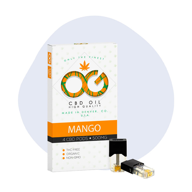 OG Labs CBD Pod Mango 500mg (4 Pack) - ErthBay