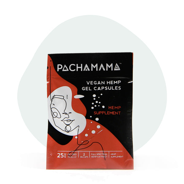 Pachamama CBD Softgels Full Spectrum Vegan Capsules 25mg - ErthBay
