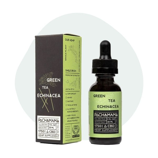 Pachamama CBD Tincture Green Tea Echinacea 1750mg - ErthBay