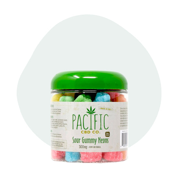 Pacific CBD Edible Sour Gummy Neons 10mg - ErthBay