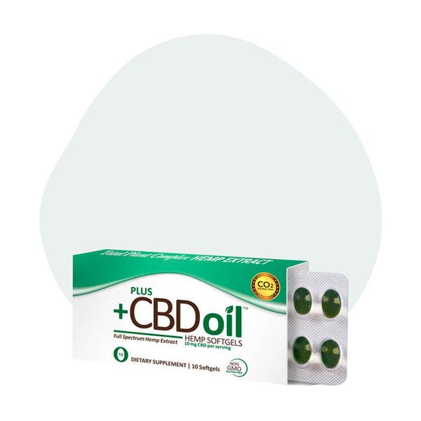 PlusCBD Oil CBD Softgels Green Blend Full Spectrum 10mg - ErthBay
