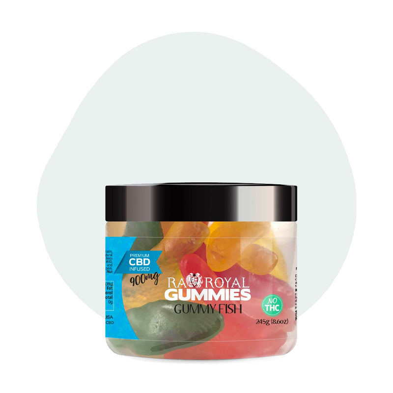 RA Royal CBD Edible Gummy Fish Gummies 900mg - ErthBay