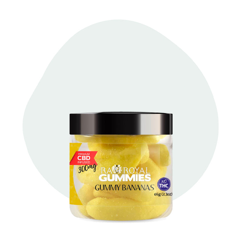 RA Royal CBD Edible Gummy Bananas Gummies 300mg - ErthBay