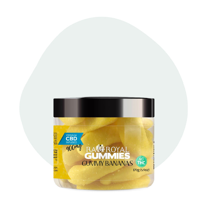 RA Royal CBD Edible Gummy Bananas Gummies 900mg - ErthBay