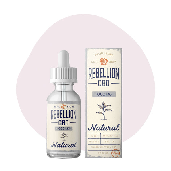 REBELLION CBD Tincture Natural - ErthBay