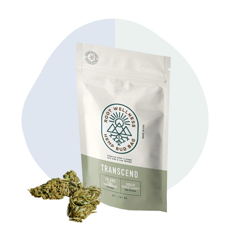 Root Wellness Hemp Flower Transcend Bud Bag - ErthBay